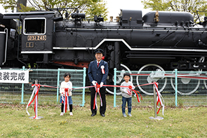 蒸気機関車塗装完成式02