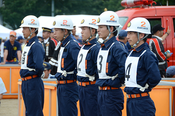 県消防ポンプ操法大会01