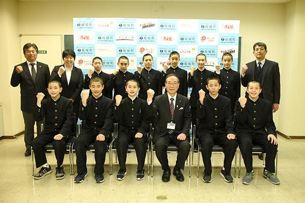 坂城中男子バレー部が北信越大会に出場します