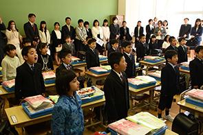 村上小学校入学式02